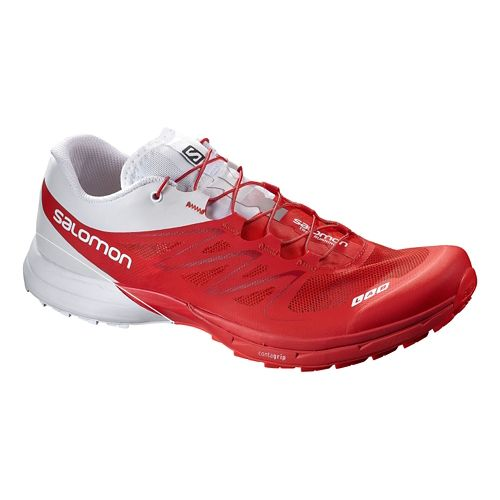 Salomon S-Lab Sense 5 Ultra Trail Running Shoe - Red/White 12