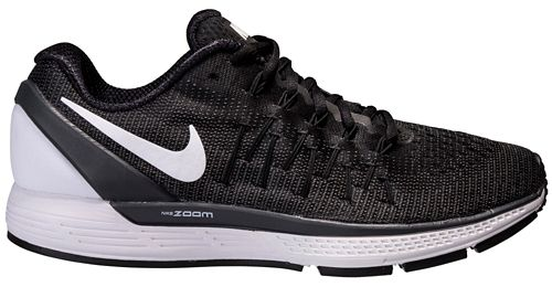Mens Nike Air Zoom Odyssey 2 Running Shoe - Black/White 12