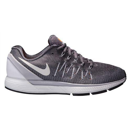Mens Nike Air Zoom Odyssey 2 Running Shoe - Grey/Orange 10.5