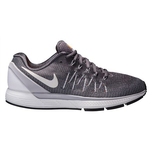 Mens Nike Air Zoom Odyssey 2 Running Shoe - Grey/Orange 11