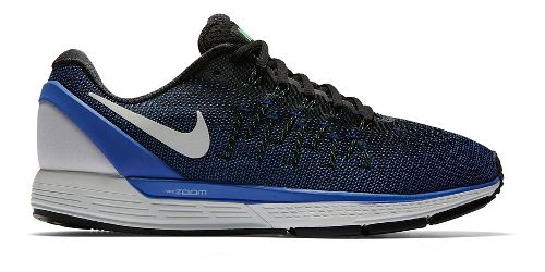Mens Nike Air Zoom Odyssey 2 Running Shoe - Black/Blue 11.5