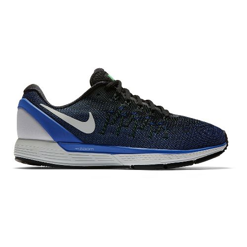 Mens Nike Air Zoom Odyssey 2 Running Shoe - Black/Blue 8.5