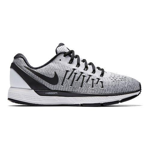Mens Nike Air Zoom Odyssey 2 Running Shoe - White/Black 10.5