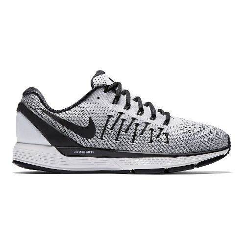Mens Nike Air Zoom Odyssey 2 Running Shoe - White/Black 9.5