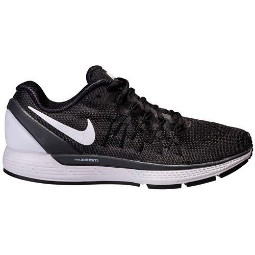 Womens Nike Air Zoom Odyssey 2 Running Shoe - Black/White 9.5