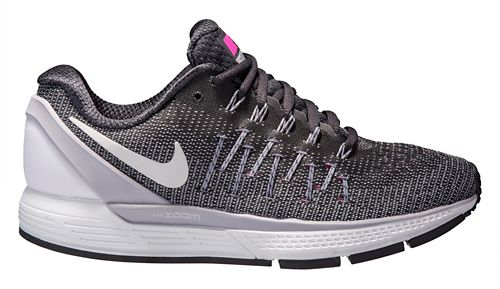 Womens Nike Air Zoom Odyssey 2 Running Shoe - Anthracite/Pink 6