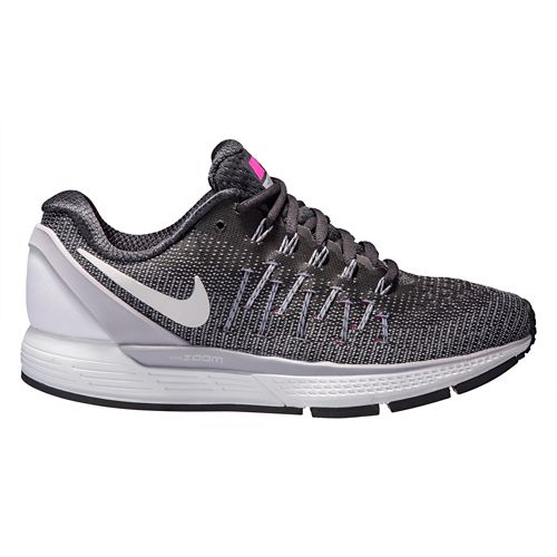 Womens Nike Air Zoom Odyssey 2 Running Shoe - Anthracite/Pink 7.5