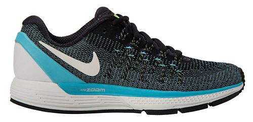Womens Nike Air Zoom Odyssey 2 Running Shoe - Black/Blue 11