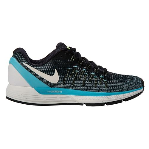 Womens Nike Air Zoom Odyssey 2 Running Shoe - Black/Blue 9