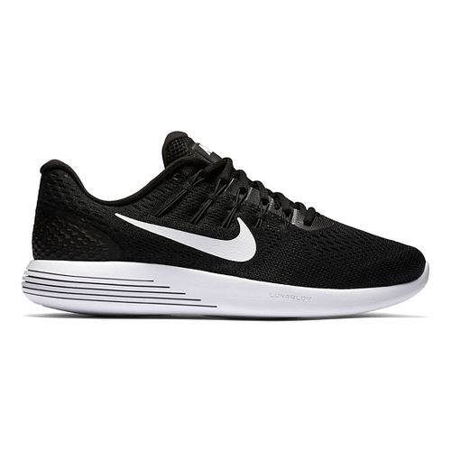 Mens Nike LunarGlide 8 Running Shoe - Black/White 11.5