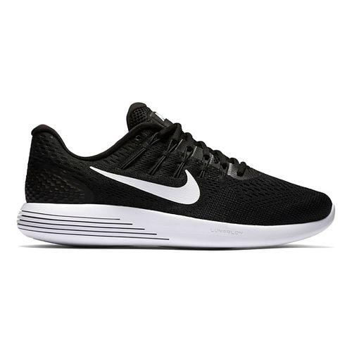 Mens Nike LunarGlide 8 Running Shoe - Black/White 9.5