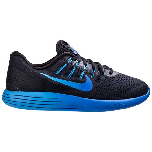 Mens Nike LunarGlide 8 Running Shoe - Black/Blue 10.5