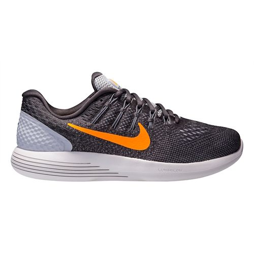 Mens Nike LunarGlide 8 Running Shoe - Grey/Orange 9.5
