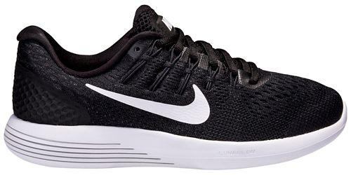 Womens Nike LunarGlide 8 Running Shoe - Black/White 11