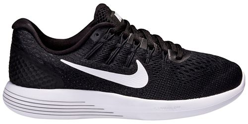 Womens Nike LunarGlide 8 Running Shoe - Black/White 8