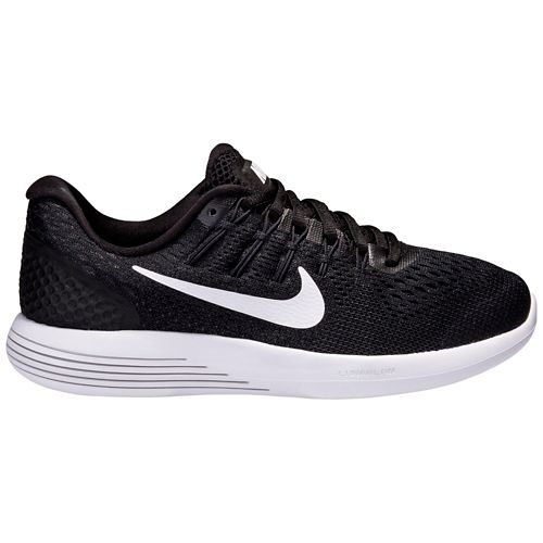 Womens Nike LunarGlide 8 Running Shoe - Black/White 11