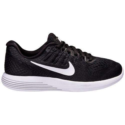Womens Nike LunarGlide 8 Running Shoe - Black/White 9