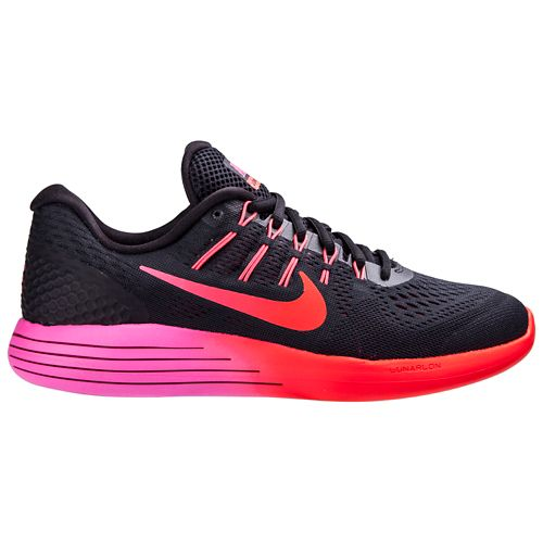 Womens Nike LunarGlide 8 Running Shoe - Black/Pink 10.5