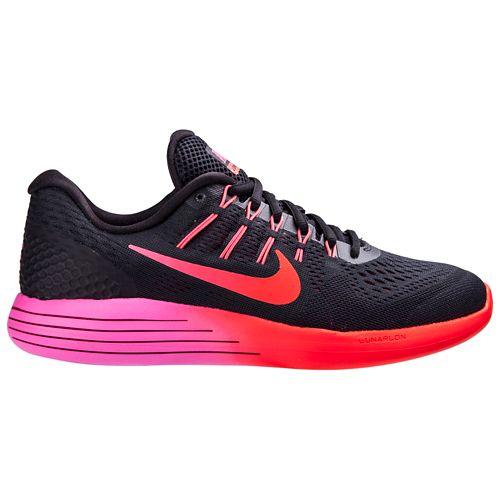 Womens Nike LunarGlide 8 Running Shoe - Black/Pink 7.5