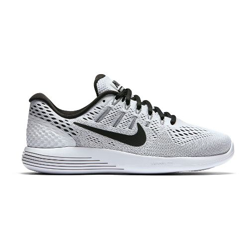 Womens Nike LunarGlide 8 Running Shoe - White/Black 7.5