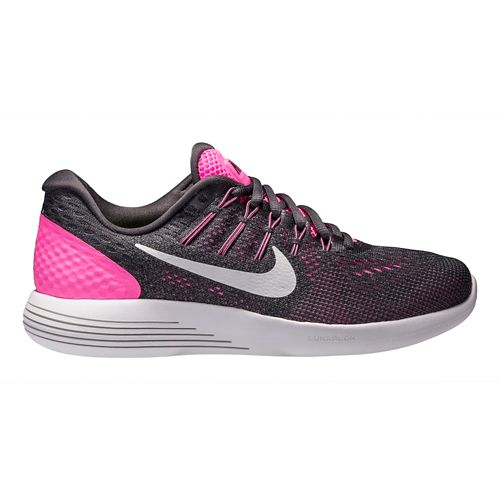 Womens Nike LunarGlide 8 Running Shoe - Pink/Anthracite 10