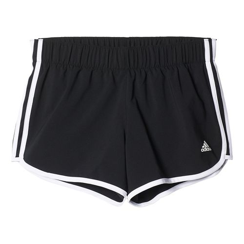Womens Adidas M10 3-Stripes Unlined Shorts - Black L