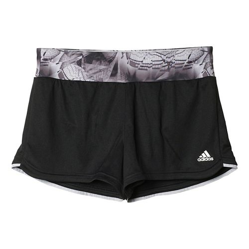 Womens adidas M10 3-Stripes Unlined Shorts - Utility Black/Black S