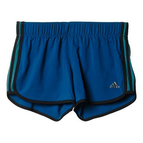 Womens adidas M10 3-Stripes Unlined Shorts - Tech Green/Black M