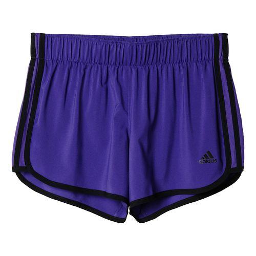 Womens adidas M10 3-Stripes Unlined Shorts - Unity Purple/Black S