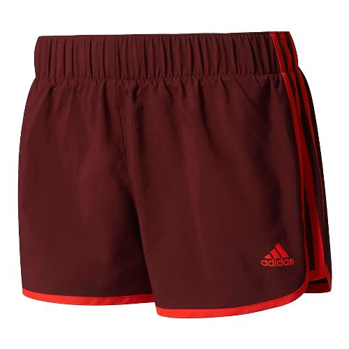 Womens Adidas M10 3-Stripes Unlined Shorts - Maroon/Red XL