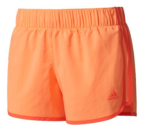 Womens Adidas M10 3-Stripes Unlined Shorts - Orange L