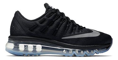 Kids Nike Air Max 2016 Running Shoe - Black/Silver 4.5Y