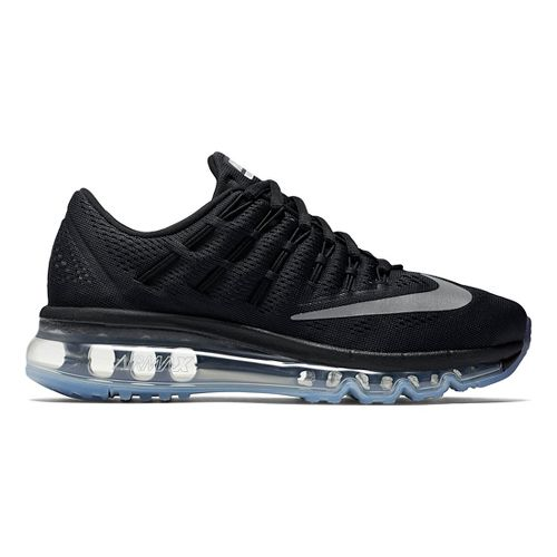 Kids Nike Air Max 2016 Running Shoe - Black/Silver 5.5Y