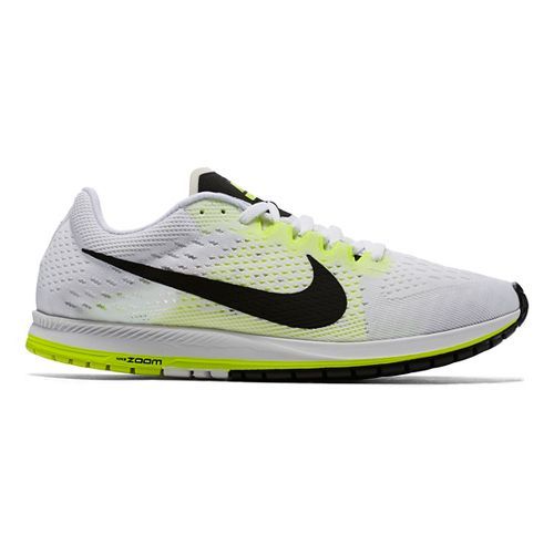 Nike Air Zoom Streak 6 Racing Shoe - White/Volt 6.5