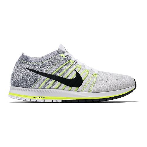 Nike Air Zoom Flyknit Streak 6 Racing Shoe - White/Volt 9