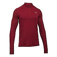Mens Under Armour No Breaks 1/4 Zip Long Sleeve Technical Tops