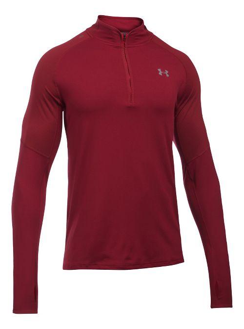 Mens Under Armour No Breaks 1/4 Zip Half-Zips & Hoodies Technical Tops - Cardinal XL