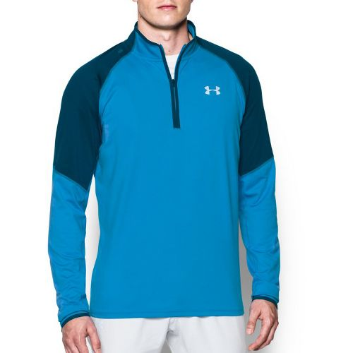 Mens Under Armour No Breaks 1/4 Zip Half-Zips & Hoodies Technical Tops - Brilliant Blue/Navy L