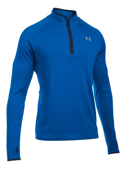 Mens Under Armour No Breaks 1/4 Zip Half-Zips & Hoodies Technical Tops - Blue/Blue M