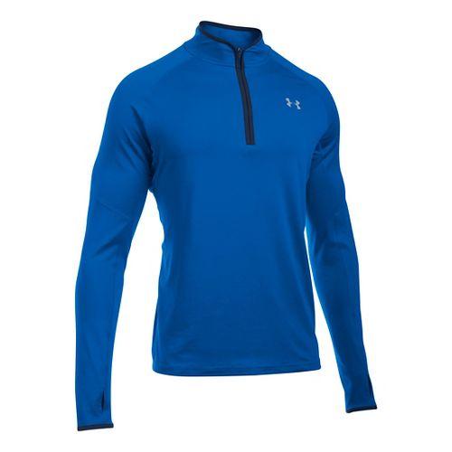 Mens Under Armour No Breaks 1/4 Zip Half-Zips & Hoodies Technical Tops - Blue/Blue XL ...