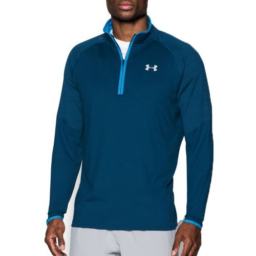 Mens Under Armour No Breaks 1/4 Zip Half-Zips & Hoodies Technical Tops - Blackout Navy ...