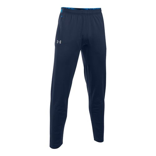 Mens Under Armour No Breaks CGI Tapered Pants - Midnight Navy/Blue L
