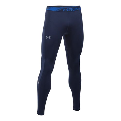 Mens Under Armour No Breaks CGI Tapered Tights & Leggings Pants - Midnight Navy S ...