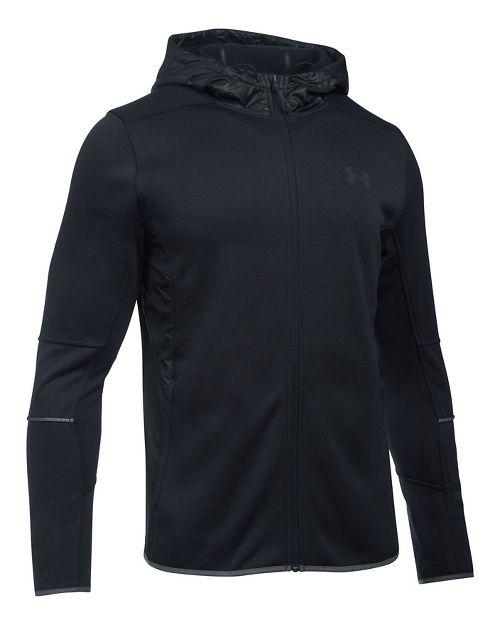 Mens Under Armour Swacket Fullzip Hoodie Casual Jackets - Black XXL