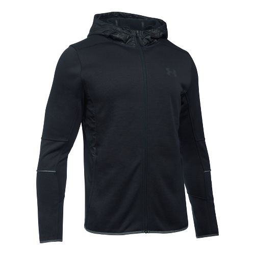 Mens Under Armour Swacket Fullzip Hoodie Casual Jackets - Black XXL