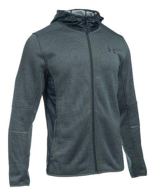 Mens Under Armour Swacket Fullzip Hoodie Casual Jackets - Stealth Grey/Steel L