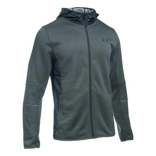 Mens Under Armour Swacket Fullzip Hoodie Casual Jackets - Stealth Grey/Steel M