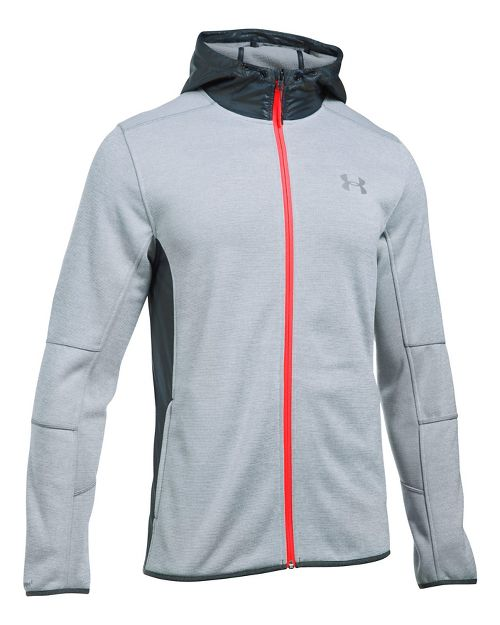 Mens Under Armour Swacket Fullzip Hoodie Casual Jackets - Steel/Stealth Grey XL