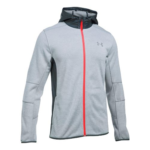 Mens Under Armour Swacket Fullzip Hoodie Casual Jackets - Steel/Stealth Grey XL