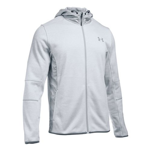 Mens Under Armour Swacket Fullzip Hoodie Casual Jackets - White/Overcast Grey XXL